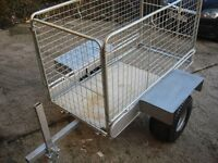 for sale garden trailer galvanized ready to use on farms garden or etc