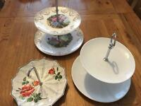 3 x cake stands (perfect for weddings)