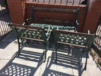 cast iron garden furniture Table, Bench & Chairs For Refurbishment- delivery available