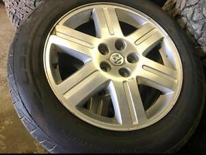 225/60/18 Cooper Discover tires+rims 90%