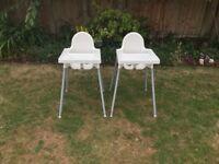 Ikea child's high chair,s (£5.00 each)