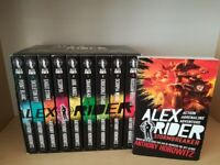 Alex Rider Books 1-10 (with slipcase) and the Undercover; Four Secret Files Book By Anthony Horowitz