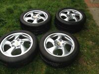 Alloy wheels 17 porsche boxster S 986