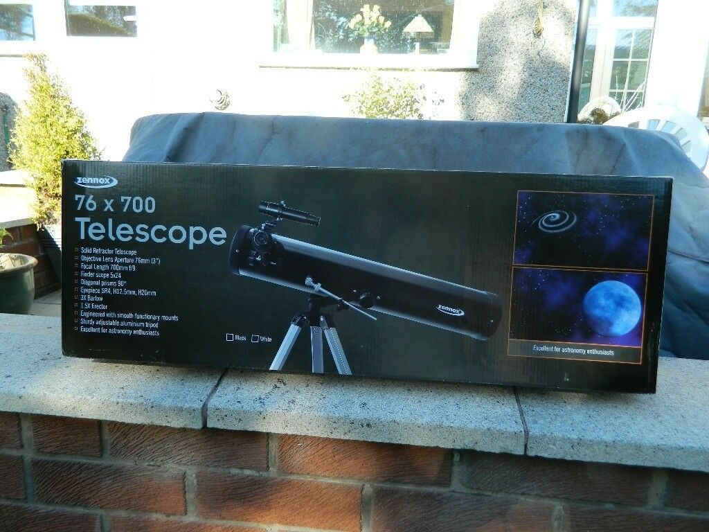Zennox telescope solid reflector with additional lenses