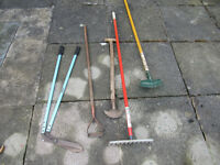 Selection of garden and household maintenance tools