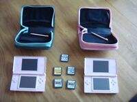 Nintendo DS Lite two available plus cases, chargers & free games