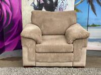 Phoenix Mocha Colour Fabric Armchair