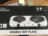 Double hot plate with box