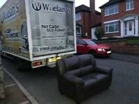 2 seater sofa in brown leather Hyde