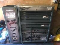 Snap on limited edition Guy Martin tool box and side cabinet
