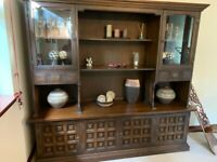 Welsh dresser/Sideboard Brown Dining Unit
