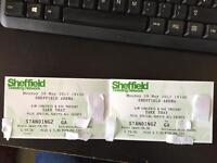Take That tickets Sheffield Arena Monday 29th May