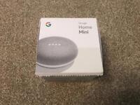 Google home mini - silver chalk voice Assistant speaker