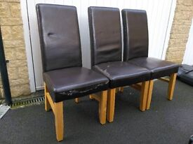 FREE - 3 Dining chairs