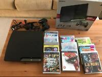 Ps3 slim 320gb boxed + games