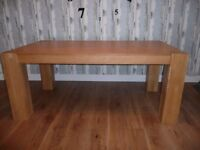 Chunky leg dining table