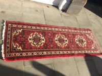 Iranian Rug , in good condition . Runner rug style. Size L 200cm x 70cm