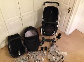 Icandy cherry complete travel system stroller black