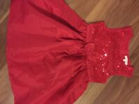 Blue zoo sparkly red dress age 5