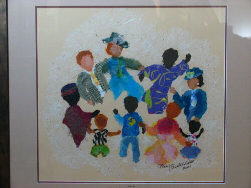 Sr. Mary Bertoli Signed Original Mixed Media Art Tissue and Paper