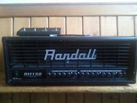 Randall RH150G3 Plus 150W guitar amp head with footswitch