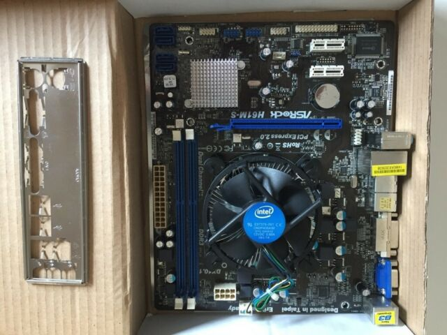 Asrock H61MS Intel motherboard + i5-3470 CPU + 8GB DDR3 + Intel cooler +  backplate | in Gorgie, Edinburgh | Gumtree