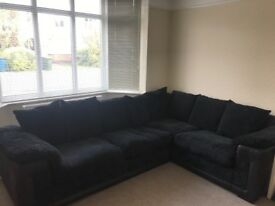 Black DFS corner sofa £290