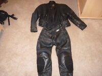 Leather jacket & trousers