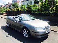 54 plate Saab 9,3 vector sport turbo convertible only £995
