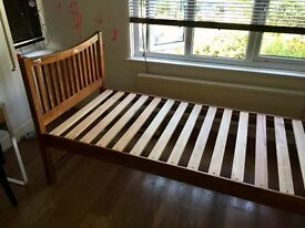 Solid wood single bed with slats. Originally from John Lewis. Good condition. Collection only