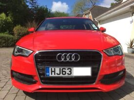 2013 Audi A3 2.0 TDI S-Line 150ps Red - Very desirable spec and colour private sale 1 former keeper!