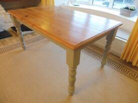 FARMHOUSE STYLE PINE TABLE