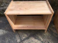 IKEA Pine Bedside Table/Small Shelf Unit