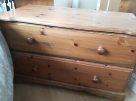 LOVELY SOLID PINE BLANKET BOX WITH DRAWER