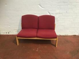 Red Fabric Sofa (2 Seater)