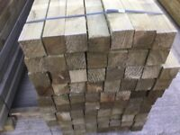 timber post 4x4 Pressure Treated green