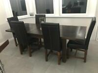Solid oak John Lewis extendable dining table