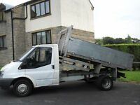 ford transit t350 tipper 58 reg alloy dropside no vat