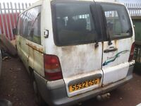 Mercedes vito 108d traveliner mini bus spare parts available window sets door