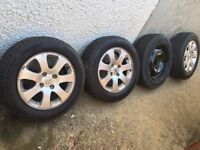 Peugeot 307 Alloys 3 and 1 Spare