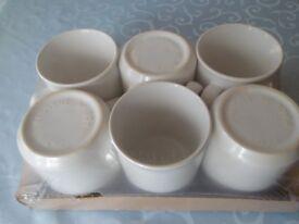 Brand New Set of 6 Wilko China Mugs White