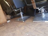 Barber chairs and unit mirrors