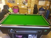 6ft x 3ft English Pool Table - Slate bed, including balls & cues