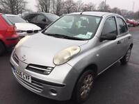 2006 NISSAN Micra. 5 DOOR ECONOMICAL RELIABLE MOT TAX WARRANTY GUARANTEED