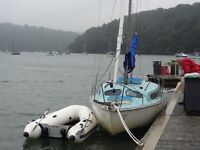 Hurley 20 to include rubber dinghy with small motor