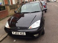 FORD FOUCS 1.6 PETROL BLACK 2002 GOOD CAR £450