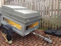 Erde 122 trailer with lockable hardtop