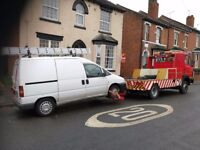 24 Hour Vehicle Recovery service in Tamworth, Birmingham, Nuneaton, Atherstone, West Midlands area