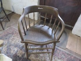Antique stick back/round back tub style chair