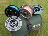 COBRA MULITPLYER FLY REEL WITH 3 SPARE SPOOLS